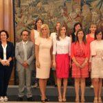 Doña Letizia recibió en audiencia a la Asociación FEDUNE