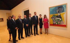 Lee más sobre el artículo Don Felipe y Dña. Letizia visitan el Museo Picasso en Málaga