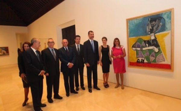 Don Felipe y Dña. Letizia visitan el Museo Picasso en Málaga