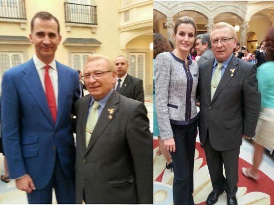 El Presidente Regional de la HNME en Castilla y León, participó de la Audiencia de los Reyes en El Pardo