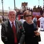 El Presidente de la Hermandad Nacional Monárquica de España en la Misa Estacional del L Aniversario de la Coronación Macarena
