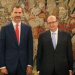 El Presidente del Tribunal de Cuentas, Ramón Álvarez de Miranda recibido en audiencia por el Rey Felipe