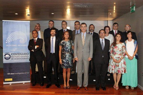 El Príncipe Felipe de Borbón en el centenario del Instituto Nacional de Oceanografía