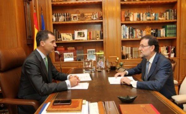El Rey Felipe VI mantuvo una reunión con el Presidente del Gobierno Mariano Rajoy