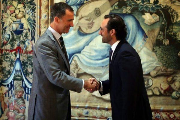 El Rey Felipe recibe al Presidente de las Islas Baleares en el Palacio Real de La Almudaina