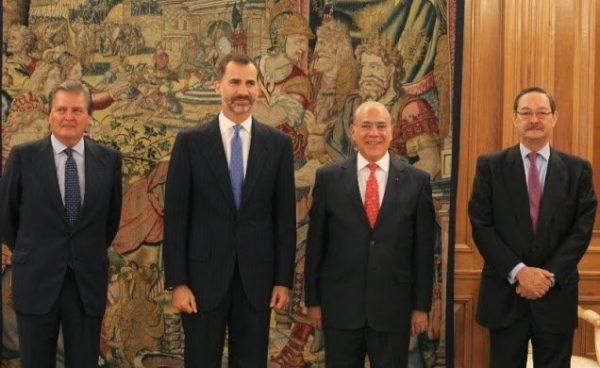 El Rey Felipe recibe en audiencia en el Palacio de La Zarzuela al Secretario General de la Organización para la Cooperación y el Desarrollo Económico