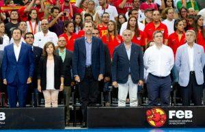 El Rey de España asistió al partido de baloncesto de la selección española
