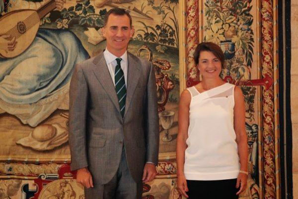 El Rey de España recibió a la Presidenta del Parlamento Balear Margalida Durán