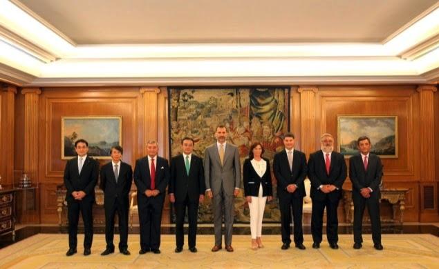 El Rey de España recibió al Grupo Fujitsu, con su presidente a la cabeza Masami Yamamoto