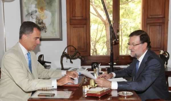 El Rey recibe al Presidente del Gobierno en Mallorca