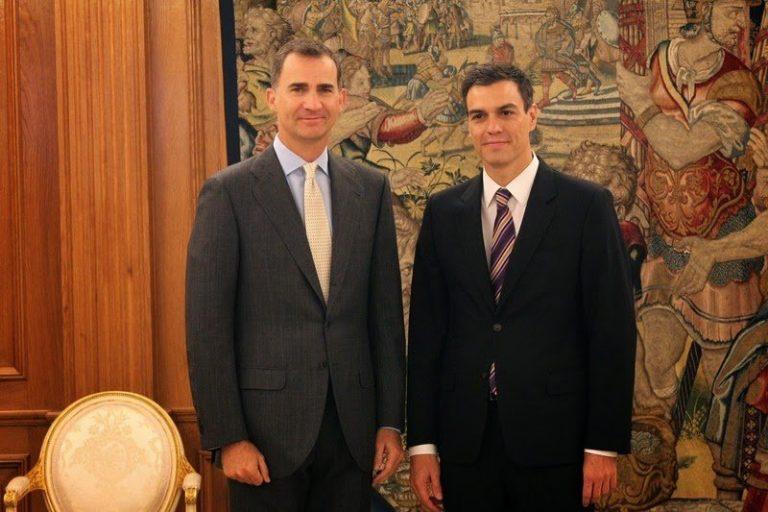 El Rey recibe en La Zarzuela al nuevo secretario General de los Socialistas, Pedro Sánchez