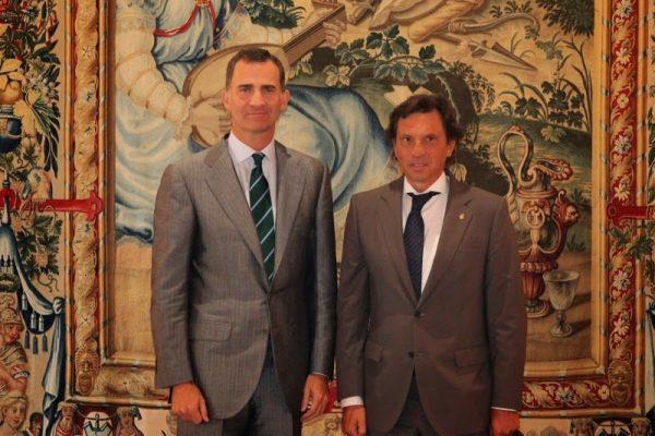 El alcalde de Palma de Mallorca recibido por Felipe VI en La Almudaina