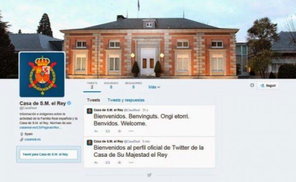 La Casa de Su Majestad el Rey abre su cuenta oficial en twitter bajo el nombre @CasaReal
