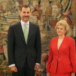 La Defensora del Pueblo, Soledad Becerril recibida por el Rey Felipe VI
