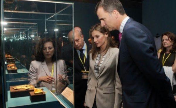 Los Príncipes de Asturias abren la Exposición «El último viaje de la fragata Nuestra Señora de las Mercedes»
