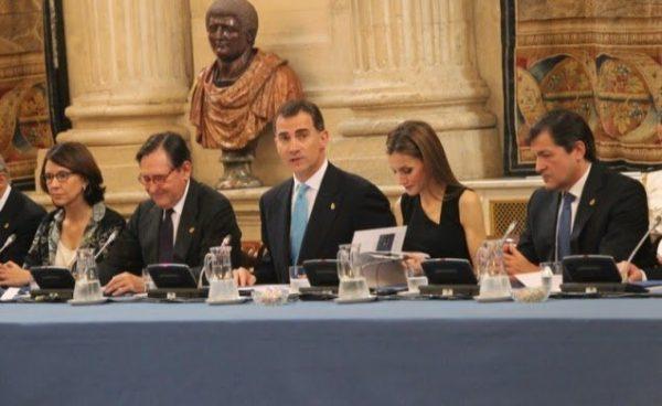 Los Príncipes de Asturias presiden la reunión del Patronato de la Fundación Príncipe de Asturias