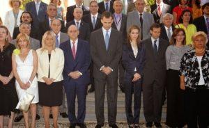 Los Reyes con las víctimas del terrorismo