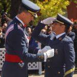 Los Reyes de España asistieron al acto de entrega de despachos a 142 nuevos suboficiales del Ejército del Aire