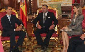 Los Reyes de España en visita en Marruecos