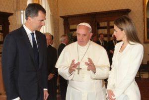 Los Reyes de España recibidos por S.S. el Papa Francisco