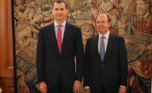 S.M. Felipe VI recibió al Presidente del Senado en la Zarzuela