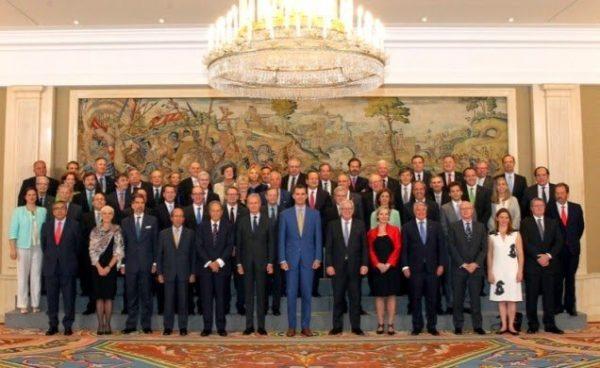 S.M. el Rey recibe en audiencia a una delegación del European Australian Business Counil