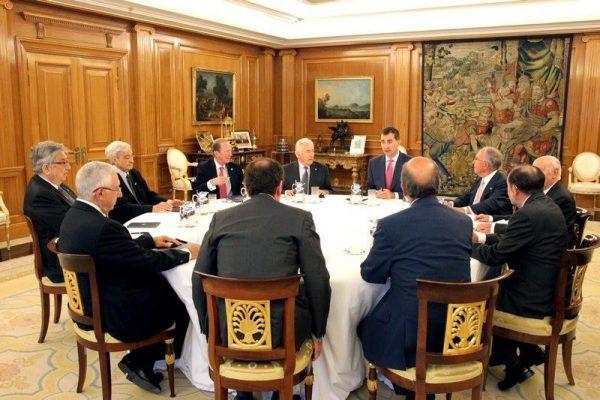 Su Majestad el Rey se reunió con los responsables de las Reales Academias