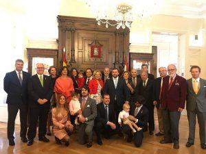 Dos miembros de la Junta Directiva de la HNME en la Diputación de los doce Linajes de Soria
