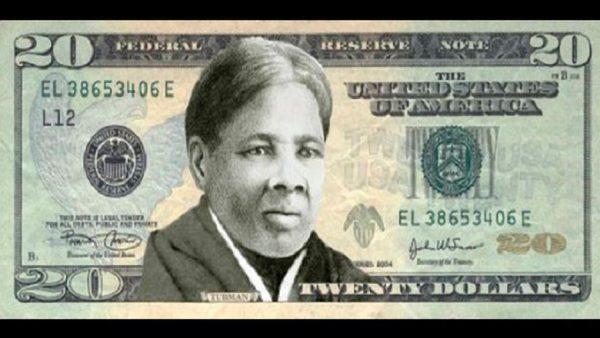 Veinte dólares de color negro
