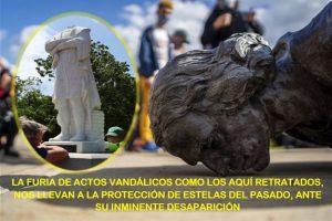 Las protestas raciales arrecian vandalizando monumentos ilustres I
