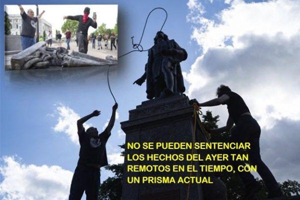 Los problemas raciales arrecian vandanlizando monumentos ilustres (II)