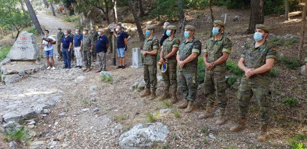 Homenaje al soldado Herrero en marcha Des Güell a Lluc a Peu