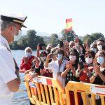 Lee más sobre el artículo Su Majestad el Rey Felipe VI visita la Comandancia Naval del río Miño