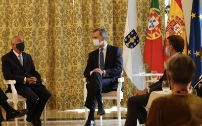 Su Majestad el Rey mantuvo un encuentro con el presidente de la República Portuguesa, Marcelo Rebelo de Sousa, en virtud de las relaciones hispano-lusas