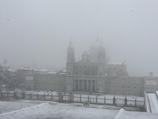 La nevada histórica de España obliga a cerrar Palacios y Monasterios de Patrimonio Nacional