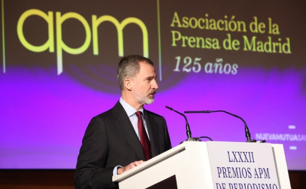 Sus Majestades los Reyes entregan los premios de la Asociación de la Prensa de Madrid (APM) de las ediciones 2019 y 2020